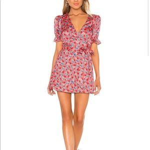 NEW Floral Wrap Mini Dress House of Harlow 1960